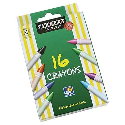 Sargent Art® Crayons; 16/Box (SAR550916)