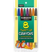Sargent Art® 8 Piece Twist Up Crayons