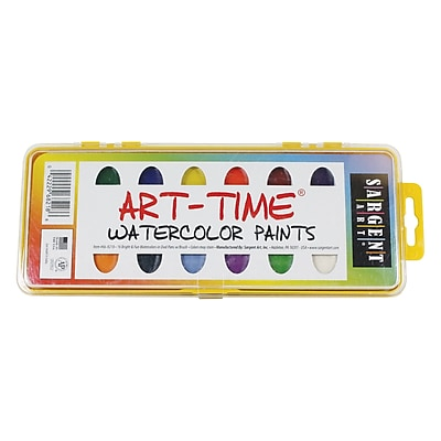 Sargent Art Non-toxic Watercolor Set With Brush (66-8218)