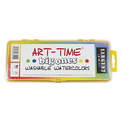 Sargent Art 4 Big Ones Non-toxic Washable Watercolor Set (66-8220)