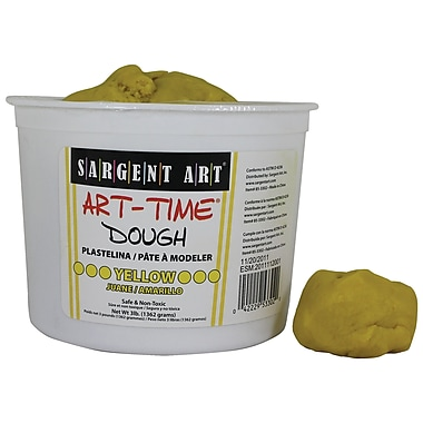 Sargent Art Sar85-3302 3 Lb Art-Time Dough, Yellow (SAR853302)