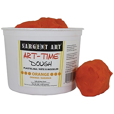 Sargent Art Sar85-3314 3 Lb Art-Time Dough, Orange (SAR853314)