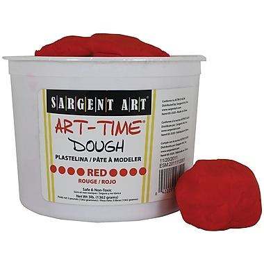 Sargent Art SAR85-3320 3 lbs. Art-Time Dough, Red