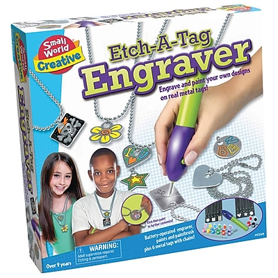 Small World Toys® Etch-A-Tag Engraver Creative Toys