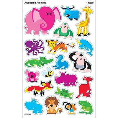 Trend® Awesome Animals Supershapes Stickers, 160/Pack