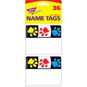 "Trend Enterprises® Name Tags, 2 1/2"" x 3"", Paw Prints"
