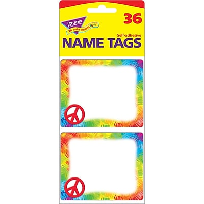 Trend® Peace Sign Name Tags