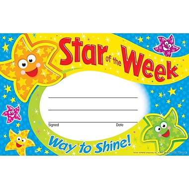 Trend® Star Of The Week-Way To Shine Award, 30/Pkg