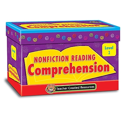 Teacher Created Resources® Nonfiction Reading Comprehension Cards, Level 2