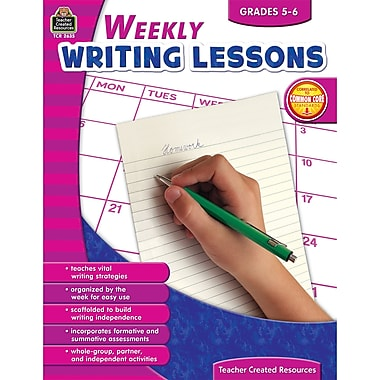 Teacher Created Resources Weekly Writing Lessons Book, Grades 5 - 6