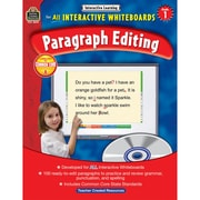 """Teacher Created Resources® """"Interactive Learning: Paragraph Editing"""" Grade 1 Book, Language Arts"""