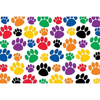 Teacher Created Resources Colorful Paw Prints Post Card