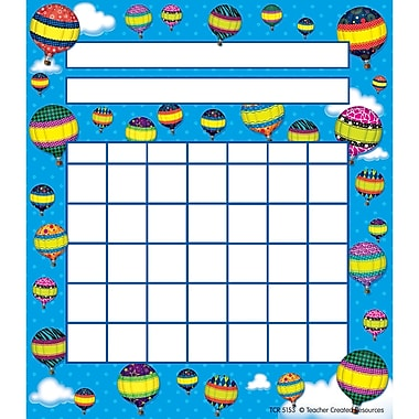 Teacher Created Resources Hot Air Balloons Incentive Chart, 36/Pack