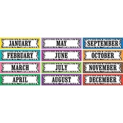Teacher Created Resources Monthly Headliner, Colorful Zebra Stripes