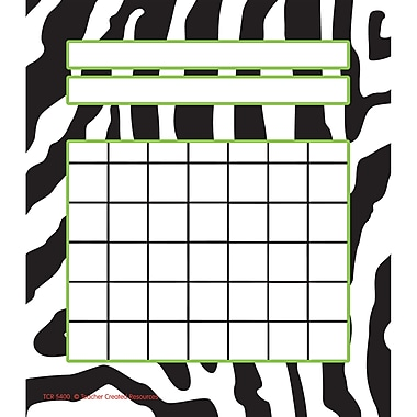 Teacher Created Resources Incentive Chart, Zebra, 36/Pack (TCR5400)