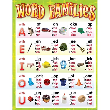 Teacher Created Resources® Word Families Chart, Language Arts