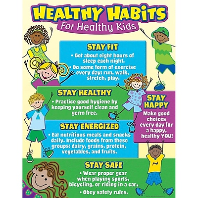 Teacher Created Resources® Healthy Habits For Healthy Kids Chart, Health