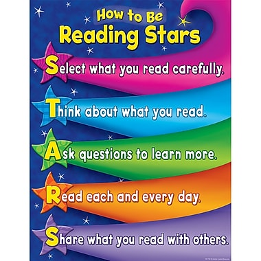 Teacher Created Resources® Reading Stars Chart, Reading