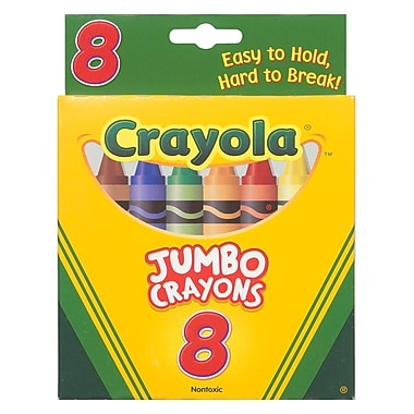 Crayola Jumbo Crayons Peggable Tuck Box, 48/Pack (BIN389)