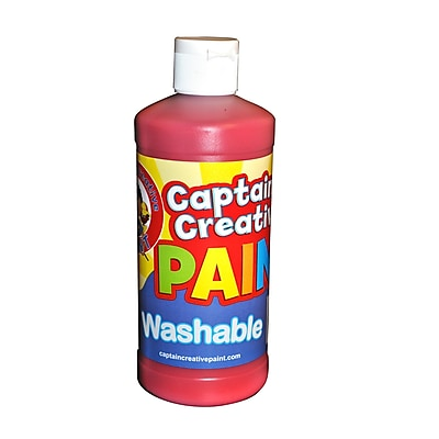 Captain Creative® 16 oz. Washable Paint, Red