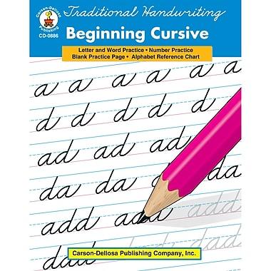 Carson-Dellosa « Traditional Handwritting Beginning… » Livre de référence, 1re à 3e année, arts du langage (CD-0886)