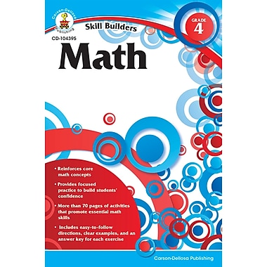Carson-Dellosa Skill Builders Math Workbook, Grade 4 (CD-104395)