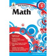 Carson Dellosa® Skill Builders Math Workbook, Grades 6