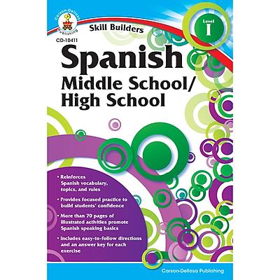 Carson-Dellosa Skill Builders, Spanish Level 1, Grades 6-8