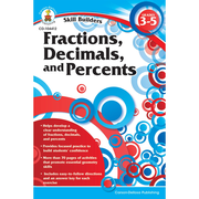 Carson Dellosa® Skill Builders: Fractions, Decimals, and Percents Workbook, Grades 3 - 5
