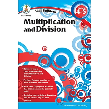 Carson-Dellosa Skill Builders: Multiplication and Division Workbook, Grade 4 - 8 (CD-104413)