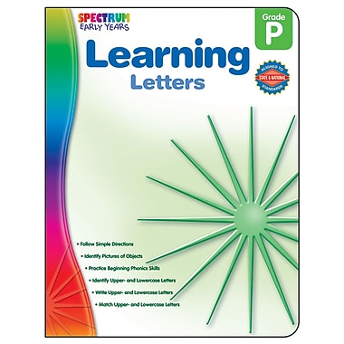 Carson-Dellosa Spectrum Early Years Learning Letters Workbook, Grade PreK (CD-104456)