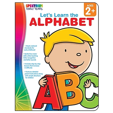 Carson-Dellosa Spectrum Early Years Let's Learn the Alphabet Workbook, Grade PreK (CD-104459)