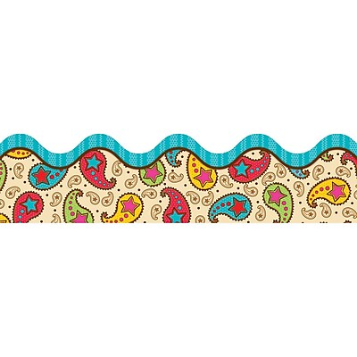 Carson-Dellosa Scalloped Borders, Paisley Power