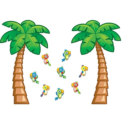 Carson-Dellosa Bulletin Board Set, Tropical Trees
