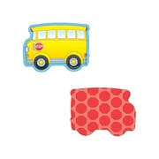 "Carson-Dellosa Publishing 120020 3"" x 3"" DieCut School Buses Mini Cut-Outs Accents, Yellow"