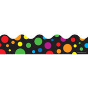 "Carson-Dellosa Publishing 1255 3' x 2.25"" Scalloped Big Rainbow Dots Border, Multicolor"