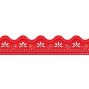 """Carson-Dellosa Publishing 1256 3' x 2.25"""" Scalloped Bandana Border, Red"""