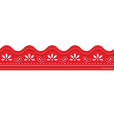 Red Bandana Scalloped Border
