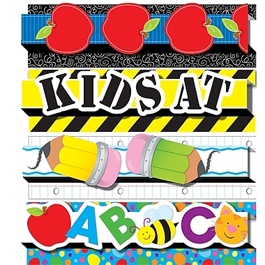 Carson Dellosa® Preschool - 5th Grade Pop-Its™ Straight Border Set, Back To School