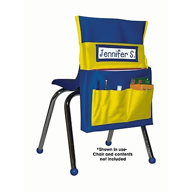 Carson Dellosa® Chairback Buddy Storage Pocket Chart, Blue/Yellow