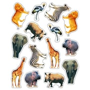 Carson-Dellosa Photographic Shape Stickers, Wild Animals of the Serengeti, 84/Pack (CD-168000)