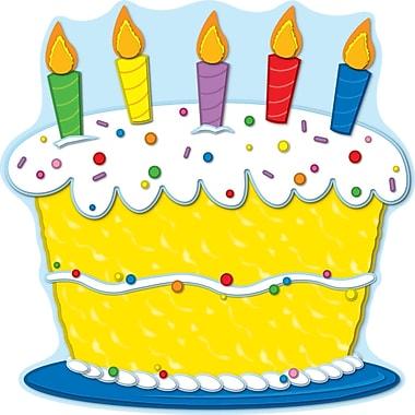 Carson Dellosa® Two Sided Decoration, Birthday Cake