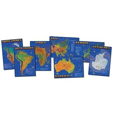 Carson Dellosa Seven Continents Of The World Bulletin Board Set, Social Studies (CD-1948)