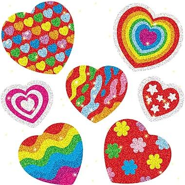 Carson Dellosa Hearts Dazzle Sticker, 1260/Pack (CD-2911)