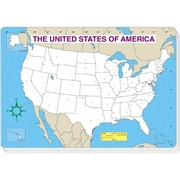 Carson Dellosa® Jumbo Map Blank Pad, 30/Sheets