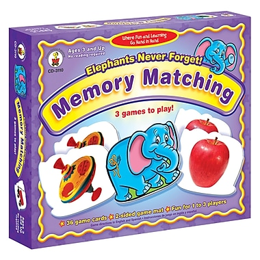 Carson DellosaMD – Elephants Never Forget: Memory Matching, niveau prématernelle