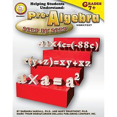 Carson Dellosa® Helping Students Understand Pre-Algebra Resource Book, Grades 7 - 8