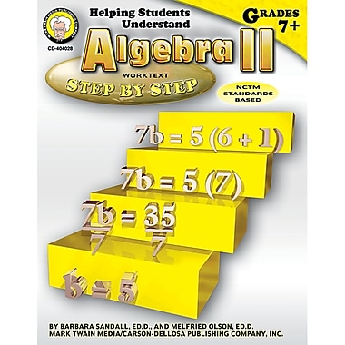 Carson Dellosa® Helping Students Understand Algebra II Resource Book, Grades 7 - 8