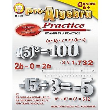 Carson Dellosa® Pre-Algebra Practice Resource Book, Grades 6 - 8