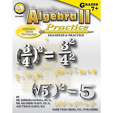 Carson-Dellosa Algebra II Practice Resource Book, Grade 7 - 8 (CD-404043)